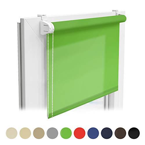 casa pura® Sichtschutzrollo - lichtdurchlässiges Rollo als Sichtschutz am Fenster - Fensterrollo in vielen Größen und Farben | Grün | 100x150cm