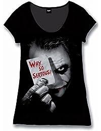 Batman Damen Fan T-Shirt Joker - Why So Serious? Schwarz