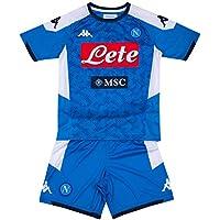 SSC Napoli, Kit Gara Home Bambino 2019/2020, Blu, 10 anni