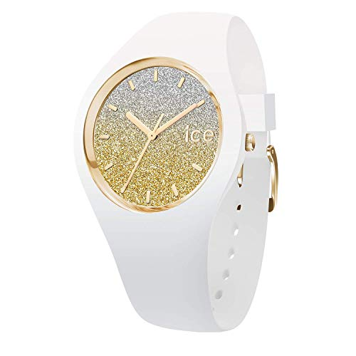 Ice-Watch - ICE lo White gold - Montre blanche pour femme avec bracelet en silicone - 013428 (Small)