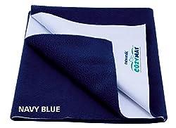 Cozymat Mattress Protector (Size: 70cm X 50cm) Navy Blue, S