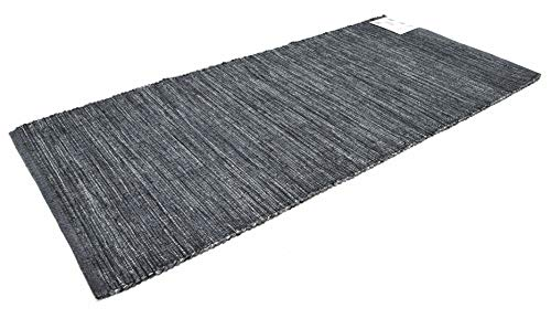 Bali tappeto cotone lavabile bagno cucina antiscivolo 50x80 60x120 60x180 60x260 vari colori lavabile in lavatrice 30° (60x120cm, grey)