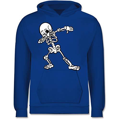 Shirtracer Anlässe Kinder - Dabbing Skelett - 9-11 Jahre (140) - Royalblau - JH001K - Kinder Hoodie