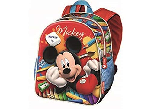 Karactermania Mickey Mouse Crayons-Nursery Backpack Zainetto per bambini, 30 cm, 7 liters, Rosso (Red)
