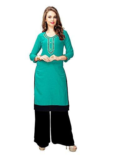 Kurtis for women (Latest Low price Designer Party wear Orange Rayon kurtis...