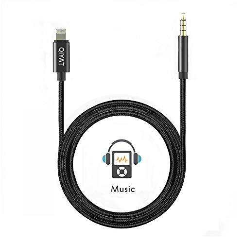 Muttiy Cable Aux, 3,5 mm Macho Audio Auxiliar Cable Adaptador de Audio Jack a Auricular, casa/Coche estéreo, Altavoz y más Compatible para iPXs XS MAX XR X 8 7 7 Plus (3,3 pies/1 m)