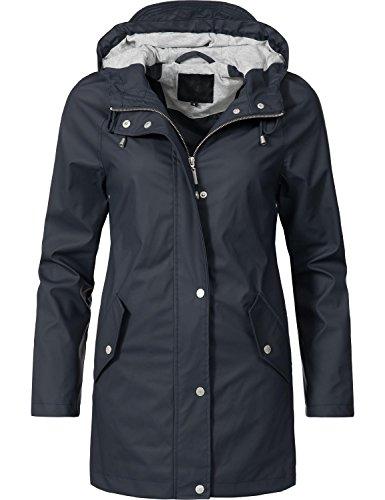 Peak Time Damen Allwetter Jacke Regenmantel L60017 Blau Gr. XL (Regen Jacke Frauen)