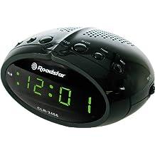 Roadstar CLR2466 - Radio despertador (FM, pantalla LED), color negro
