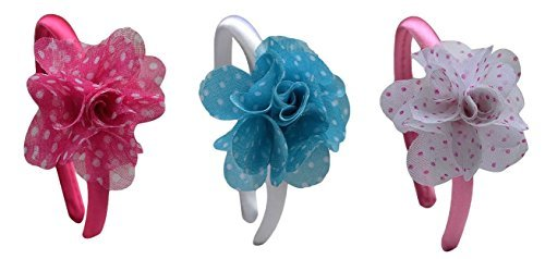Set of 3 Funny Girl Designs 18 Inch Doll Chiffon Flower Headbands Boxed Gift Set by Funny Girl Designs by Funny Girl Designs