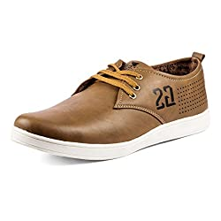 Golden Sparrow MenS Brown Fabric Synthetic Casual Shoe (Tm-H35-06)- 6 Uk