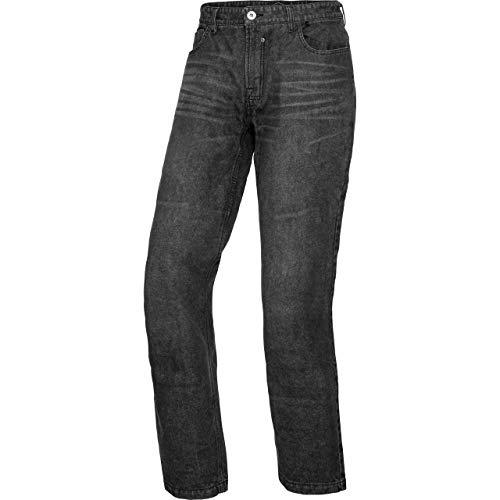 Spirit Motors Motorradjeans, Motorradhose Herren Jeans mit Schutzfunktion, 5-Pocket-Jeans im Boot-Cut Style, Taschen für Knieprotektoren, Abriebfeste Aramid-/Baumwolljeans 1.0, Dunkelgrau, 31/32