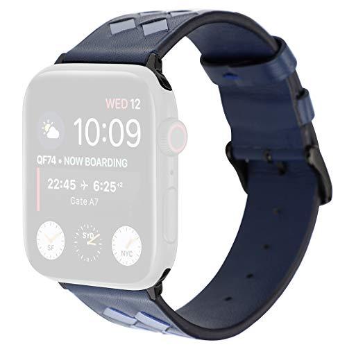 Bearbelly Armband Kompatibel mit Apple Watch 38 mm / 40 mm Jahrgang Geflochtene Weberei Leder Sport Business Einstellbare Ersatz-Uhrenarmband Damen Herren Kettenriemen -