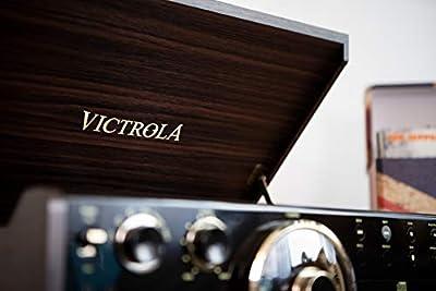 Victrola Empire Chaîne Stéréo 6-en-1 Platine Vinyle - Expresso par Innovative Technology