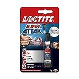 Loctite Super Attak Power Flex Gel, adesivo trasparente e istantaneo specifico per materiali flessibili, colla resistente in formula gel per pelle, gomma e cuoio, 1x3g