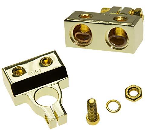 Adapter-Universe® Auto Batterie Terminal Klemme mit Verteiler Version2 2 x 12qmm Kabel Plus Pol