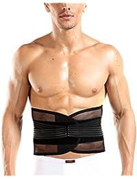 TININNA Transpirable Elástica Reductora Cinturón Faja Moldeadora , Celulitis y Reduce Peso Ajustable Correa Con Zona Lumbar y Lumbar Compatible Con(L)