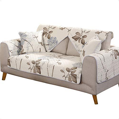 Zzy Anti-rutsch Gesteppte Protektoren möbeldecken für Haustier Hund,Modernes Sofa Slip Cover Sofa werfen Decken pad für alle Saison l u förmigen Sofa-1 stück-A 90x240cm(35x94inch)