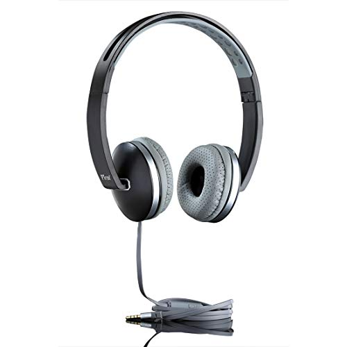 6c83915d850 PTron Rebel Headphone Stereo Wired Earphone On-Ear Headset with Mic for All  Smartphones (Gray)