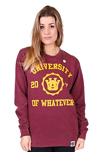 University of Whatever - Crew Neck Sweat-Shirt - Femme Bourgogne