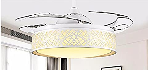 FGSGZ Stealth Deckenventilator Fan Light Und Minimalistischen Stil LED Home Decor Weiß 36 Zoll Steuerung Wand Durchmesser 92 (Fan-wand Steuerung)