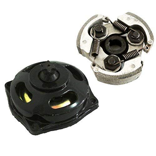 JRL Kupplungsscheibe + klein Zähne Getriebekasten Kupplungstrommel für 2-stroke 47cc 49cc Pocket Dirt Bike Mini ATV Quad Kinderquad Ersatzteil
