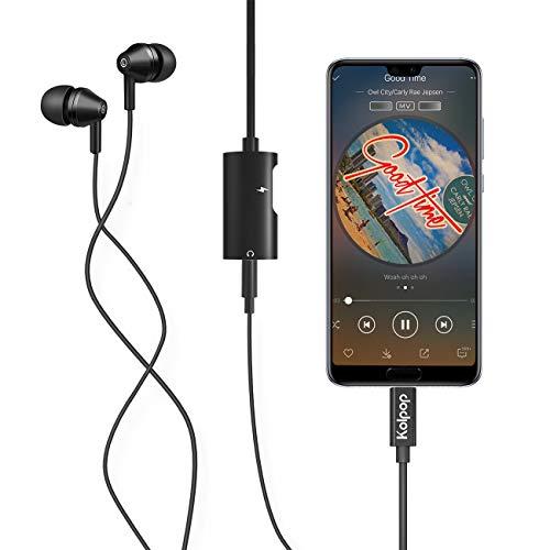 Aux USB C Adapter, Kolpop 2 in 1 USB C auf Klinke Typ C auf 3.5 mm Jack Kopfhörer Adapter mit Ladekabel für Huawei P20 / P20 Pro/Mate 10 Pro/Mate 20 Pro/Mediapad M5, Xiaomi 6/8, Sony Xperia XZ2 - 6
