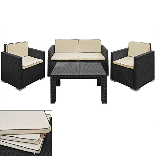 Lounge Set in Rattan-Optik Sitzgruppe Sitzgarnitur Gartengarnitur Gartenset