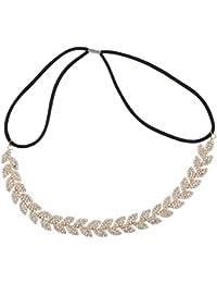 LUX accesorios oro tono rhinestone hojas diosa ocasión especial Headwrap