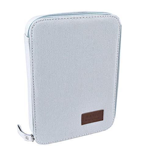 iSuperb Dokumententasche A6 Aktenmappe Klein Elektronik Organizer-Tasche Konferenzmappe Mappe mit Reissverschluss, Innengröße: 20 x 14 x 2,5 cm (Hellgrau) -