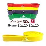 AdoreFit Fitnessbänder Klimmzug-Band | Widerstandsbänder für Krafttraining CrossFit Fitness mit Übungsanleitung - Verschiedene Größen