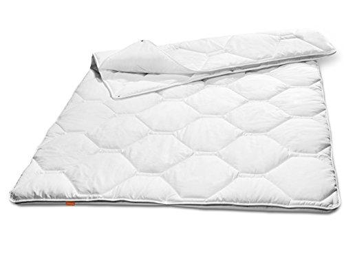 sleepling 190103 Komfort 360 Decke Baumwolle Satin 4-Jahreszeiten 155 x 220 cm, Weiß