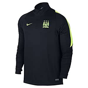 2015-2016 Man City Nike Midlayer Top (Obdisian-Green)