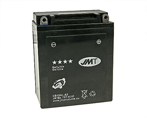 Batterie JMT GEL - YB12AL-A2 12 Volt - Peugeot Elystar 125 Advantage H2AB année de construction 2004-2006