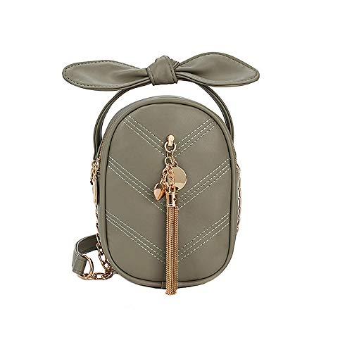 LiSh-EC Umhängetasche Damentasche Damenhandtasche PU Handtasche neueste Paket einfache Handtaschen Messenger PU Trend Kette Handtaschen süße kleine frische Neue einfarbige Schulter P, grün