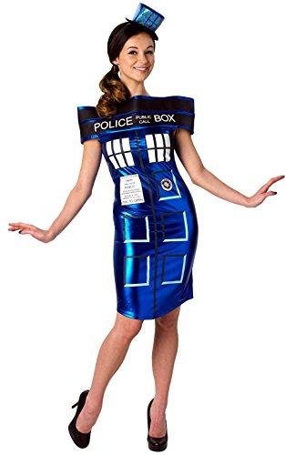 Rubie's Offizielles Doctor Who Tardis Dress Damen Kostüm–XS (Tardis-halloween-kostüm)