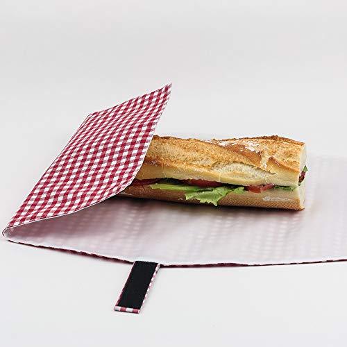 Sandwich Wrap, Frühstück, wiederverwendbar und mit einfachem Verschluss verstellbar. Lebensmittel Ökologische Produkte -