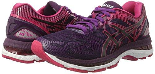 Asics Women's Gel-Nimbus 19 Running Shoes, Multicolour (Black/Cosmo Pink/Winter Bloom), 3 UK 35.5 EU