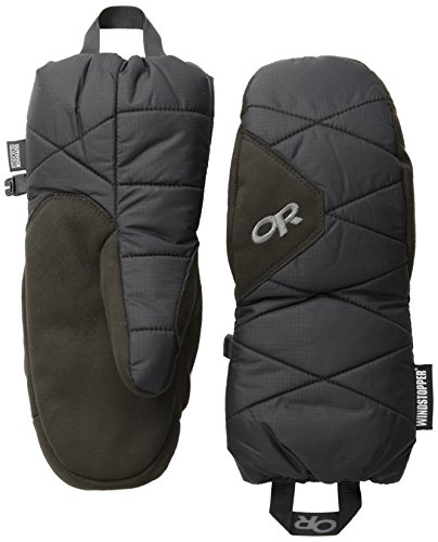 Outdoor Research Windstopper Fleece (Outdoor Research Phosphor-Handschuhe, Unisex-Erwachsene, Phosphor Mitts, schwarz, X-Large)