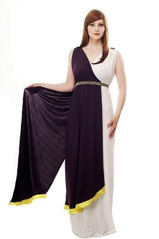 DRESS ME UP - Costume dame robe toge antique déesse Sparte Grecque Rome Romaine L074 Taille 44 / L