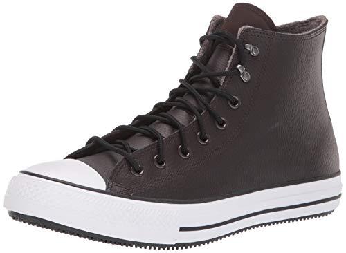 Converse Unisex-Erwachsene Chuck Taylor All Star Water-Resistent Leather High Top modischer Stiefel, Samt braun/weiß/schwarz, 49 EU