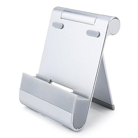 SiYear Multi-Angle Telefon und Tablette Stand Halter, Faltbare Aluminium Handy Stand Desktop Desktop Mount für iPhone, iPad, Samsung Galaxy, HTC, Nexus, LG, Tablet und andere Smartphone