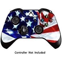 GameXcel ®  Controlador Xbox Una piel - Xbox personalizada 1 mando a distancia de vinilo pegatinas - Modded Xbox One Accesorios cubren la etiqueta - Stars & Stripes [ Controlador no está incluido]