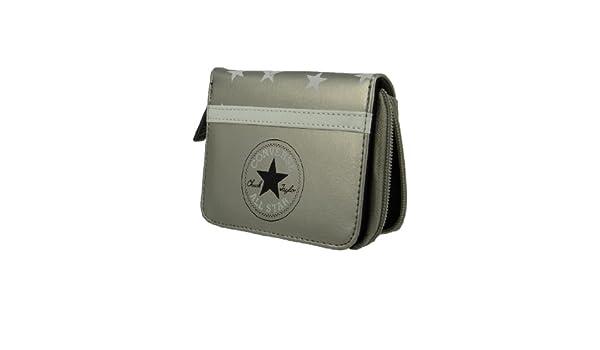 c27df54882 Converse wallet purse 410620 Zip Wallet Starlight Silver Metallic Silver:  Amazon.co.uk: Clothing