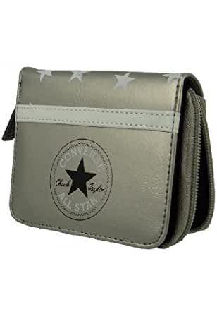 Converse wallet purse 410620 Zip Wallet Starlight Silver Metallic Silver