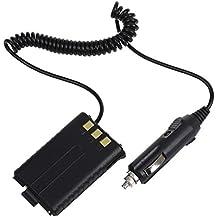 SODIAL(R) Eliminador Alimentacion Coche Bateria Negro para BAOFENG UV-5R Dual Band Radio