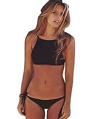 Bañadores Deportivas Mujer,Xinan Vendaje Sujetador Push-Up Baño Bikini Set de Ropa de Playa (S)