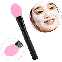 Tongshi Mango De Madera Facial Fango Mascarilla Mezcla Kit De Cosméticos Maquillaje Cepillo (Rosa)