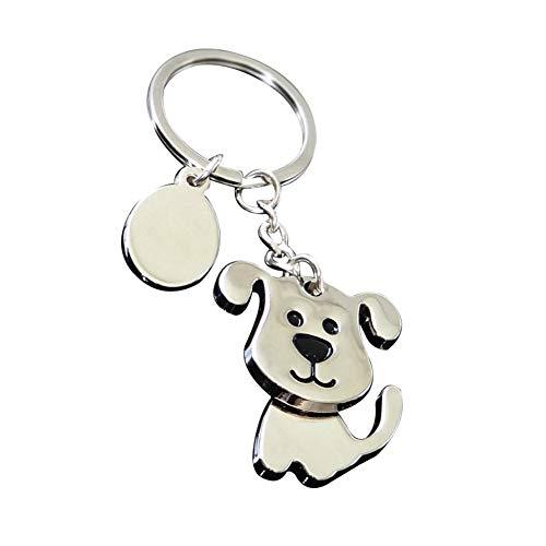 Ogquaton Premium Qualität Metall Schlüsselanhänger Mit Niedlichen Haustier Hund Anhänger Handtasche Ornamente Legierung Schlüsselanhänger -