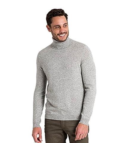 WoolOvers Rollkragenpullover aus Merinowolle-Kaschmirwolle für Herren Flannel Grey,