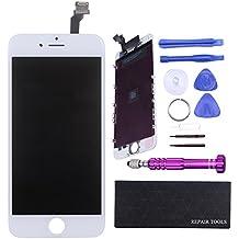 """QI-EU Ecran LCD Complet pour iPhone6 4.7"""" Vitre tactile remplacement avec Kit de Réparation (Blanc)"""